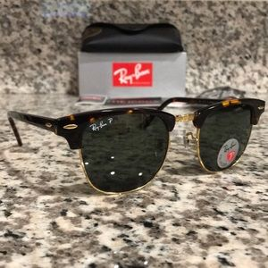 Ray Ban Clubmaster 3016 990/58 Polarized 51mm